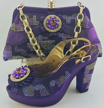 2017 Latest Fashion African Shoes And Bag Set For Party High Quality Italian Shoes And Bags To Match For Women Prom ME6605