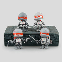WVW 4pcs/Set Anime Hero Fighting Turtle Tortoise Model PVC Toy Action Figure Decoration For Collection Gift