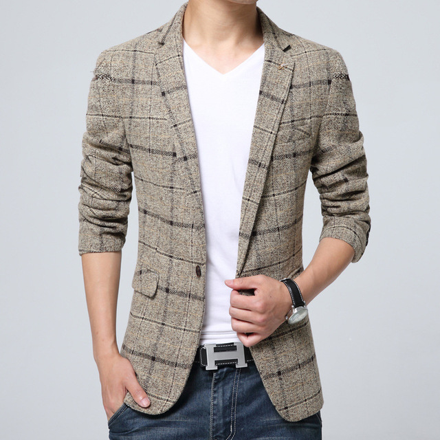 Los hombres Traje De Chaqueta Diseña Hombres Ropa de Marca de Moda de Ocio de Lujo trajes De Hombres Blazer Plus Size Slim Blazer Para Los Hombres Blazer