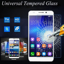 Premium 2.5D 9H Universal Tempered Glass For Smartphone Without Home Key For ZTE Xiaomi Huawei Lenovo Meizu Coolpad