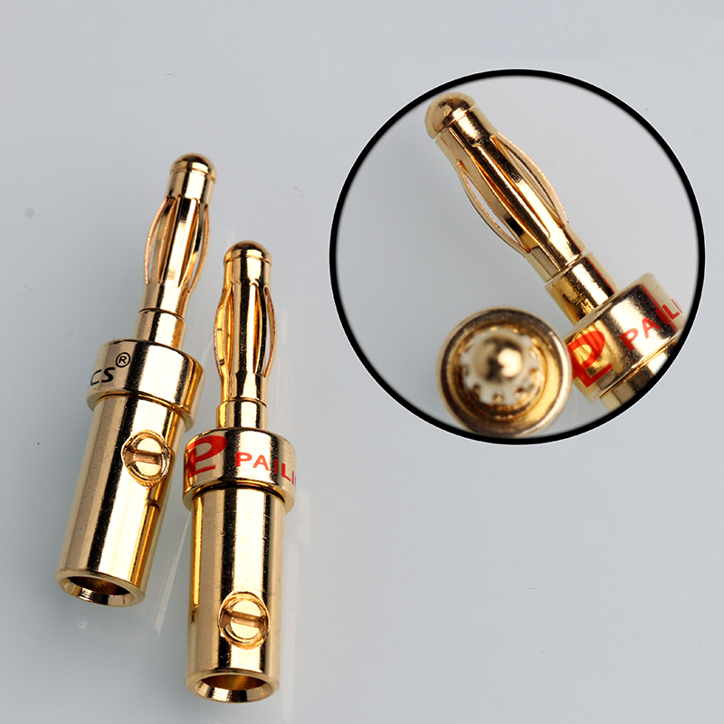 8pcs Gold Speaker Banana Plug DIY HiFi Jack Connector Audio Cable Connectors 4mm 4pcs new 4mm plugs gold plated musical speaker cable wire pin banana plug connectors