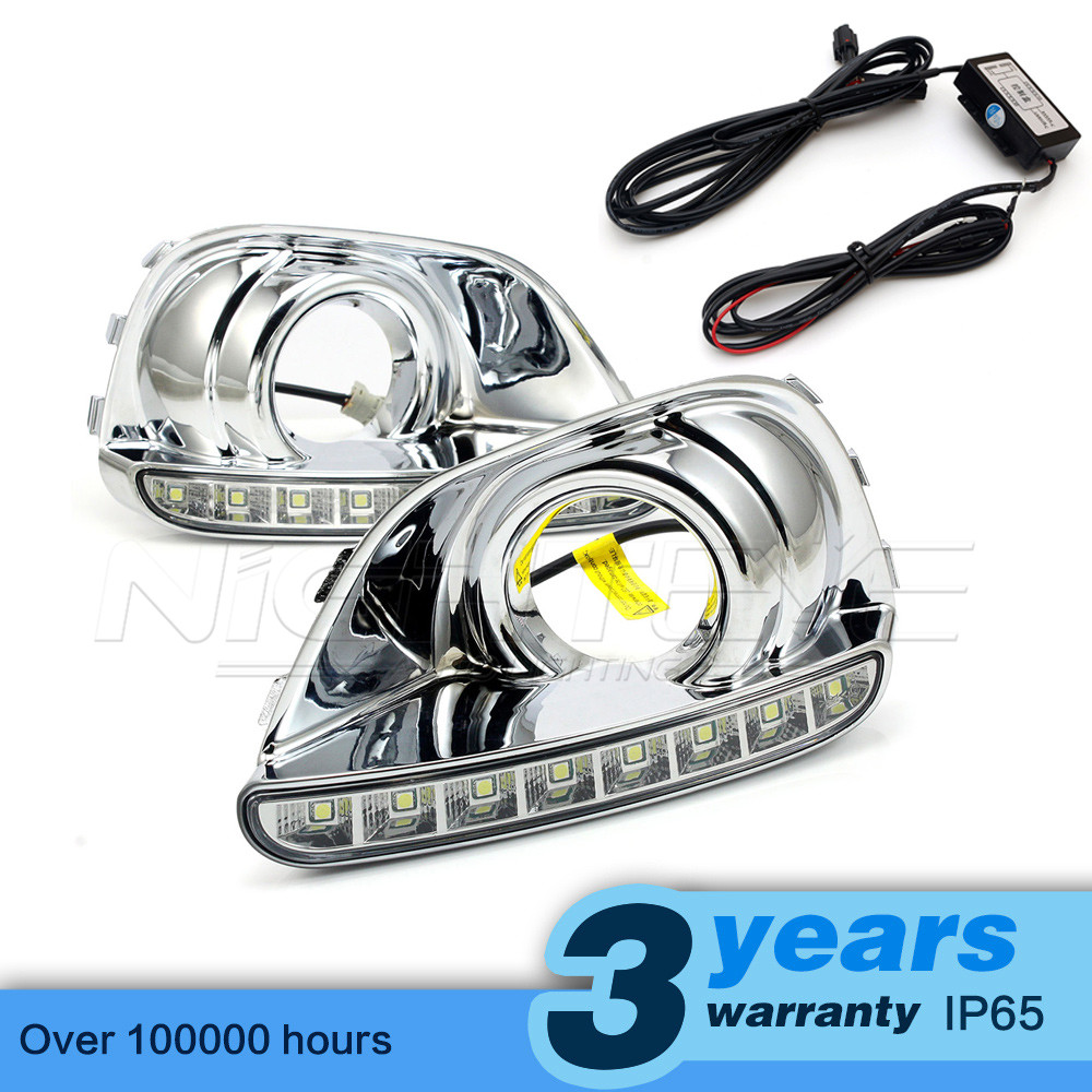 High Quality Car-special LED Daytime Running Light with Fog Lamp Cover for JEEP COMPASS 2013 2014 DRL D15 car rear trunk security shield cargo cover for jeep compass 2007 2008 2009 2010 2011 high qualit auto accessories