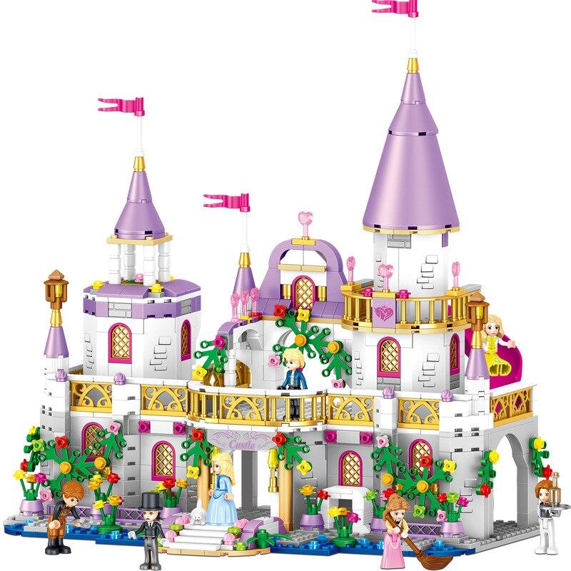 Girls Friends QL1106 731PCS Building Blocks Princess Windsor Castle Technic Designer Bricks Legoingly 41148 Toys for Girl