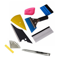 8 PCS Set Squeegee Car Window Tinting Auto Film Wrapping Install Applicator Tools Kits Universal Glue