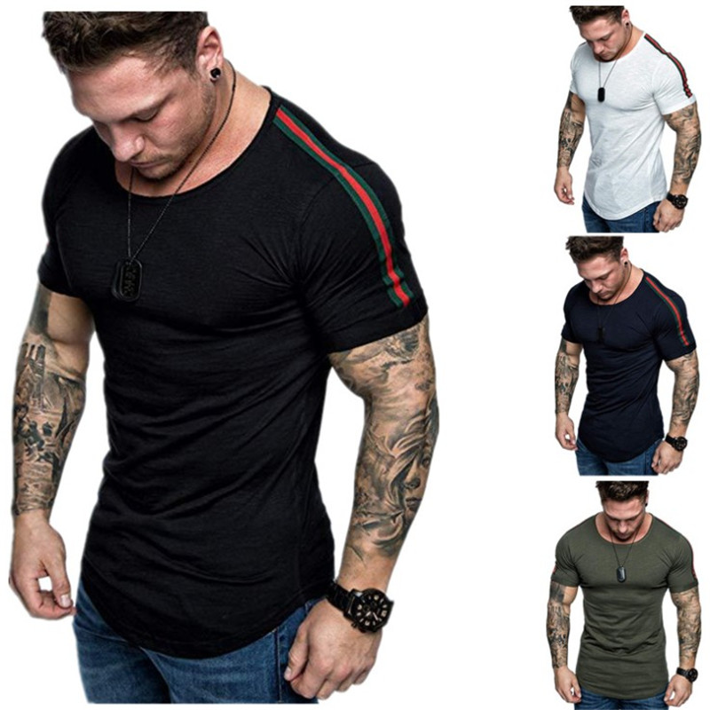 PYHAILLP 2019 Scorching Summer season Males T-shirts Stable Coloration Slim Match Brief Sleeve T Shirt Mens New O-neck Tops TShirt Model Clothes T-Shirts, Low-cost T-Shirts, PYHAILLP 2019 Scorching Summer...