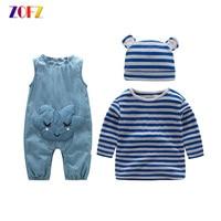ZOFZ Baby Clothing 2Pcs Set New Fashion Clothing For Babies Cute O Neck Short Boy Set