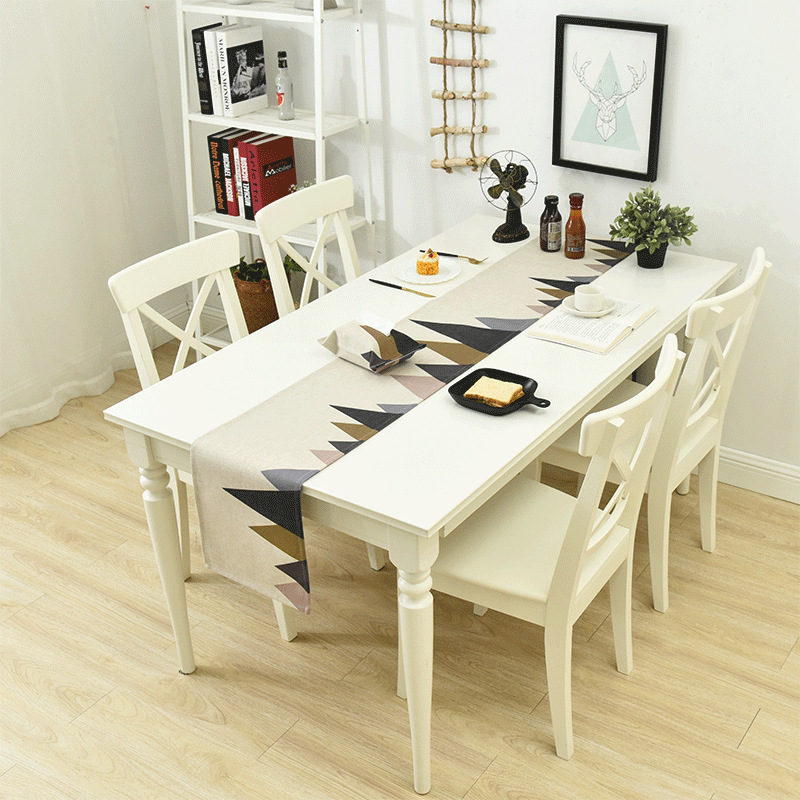 modern table runner camino de mesa chemin de table table. Black Bedroom Furniture Sets. Home Design Ideas