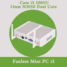 Безвентиляторный Mini PC Windows 10 Кну Barebone Intel Core i3 5005U 4 К HTPC 300 М Wi-Fi Bluetooth VGA HDMI Бесплатная Доставка HD 5500 графика