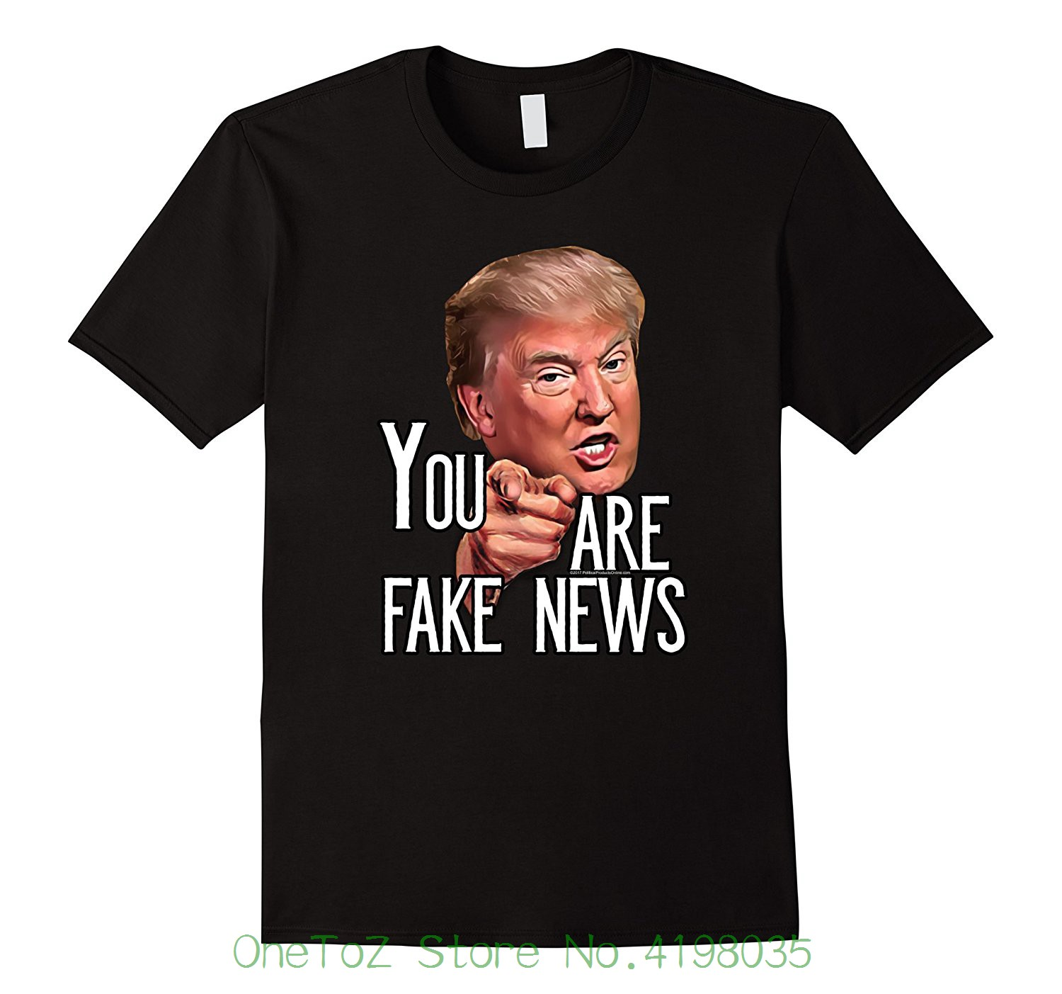Mens Funny President Trump You Are Fake News Meme T-shirt New Brand-clothing T Shirts image