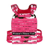 Pink Camouflage Womens Outdoor Combat Tactical Vest Female Physical Fitness Weight Bearing Vest Field CS Training Gear Waistcoat