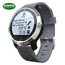 F69ใหม่หลายกีฬานาฬิกาh eart rate monitorสามารถนำมาใช้สำหรับใต้น้ำกีฬาและกิจกรรมกลางแจ้งpedometerสมาร์ทนาฬิกา