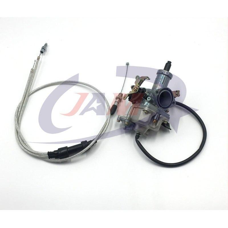 Pompe d'accélération de Jet de puissance de carburateur de la haute Performance KEIHIN PZ30 30mm + double câble IRBIS pour le vélo de saleté de moto de 200cc 250cc