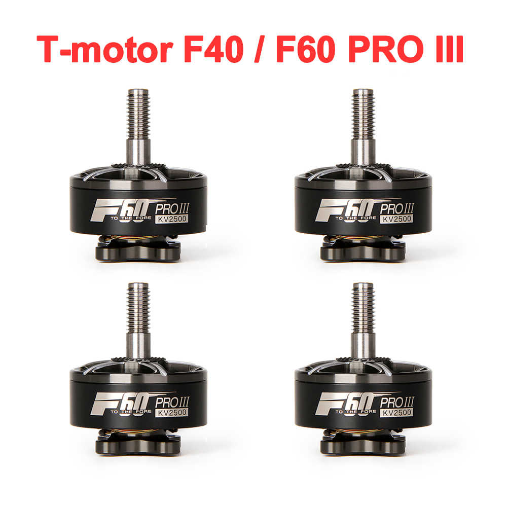 T-motor F40 F60 Pro III 1750KV 2400KV 2500KV 2600KV 2700KV 3-4 S CW Draad Borstelloze Motor voor RC Drone FPV Racing Multicopter