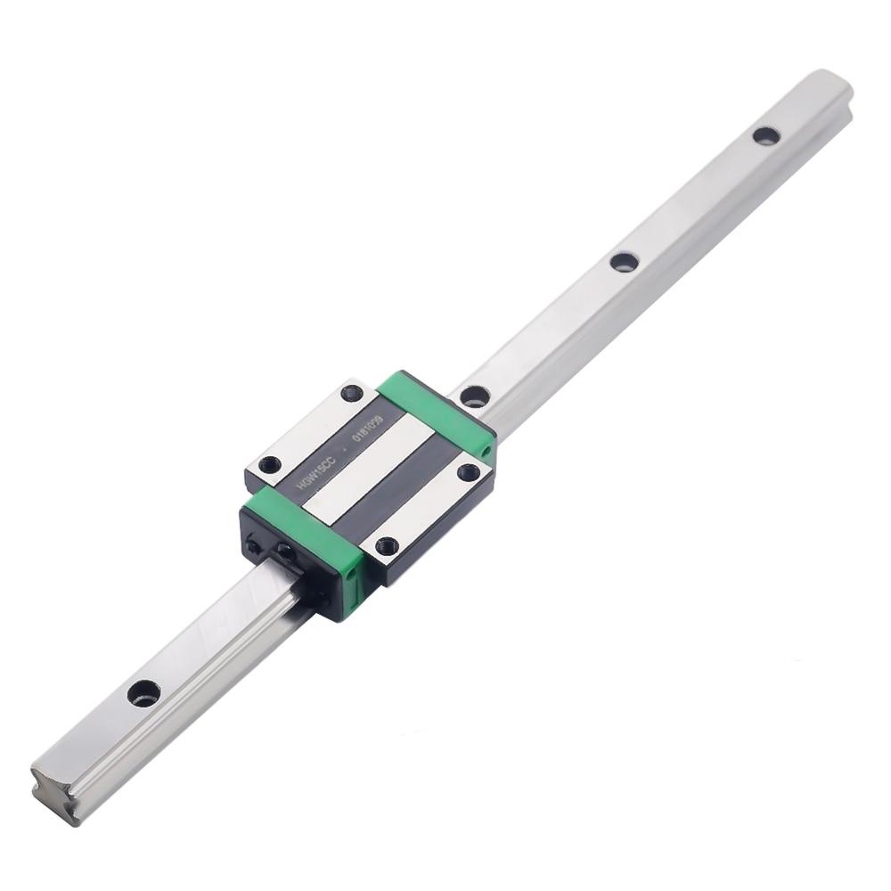 3D print parts CNC linear guide Linear rail slide 1pc HGR15-L-100mm+1pc HGH15CA carriage or HGW15CA block HGR20 HGR25 HGR30 rail3D print parts CNC linear guide Linear rail slide 1pc HGR15-L-100mm+1pc HGH15CA carriage or HGW15CA block HGR20 HGR25 HGR30 rail