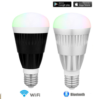 10W MagicLight Pro Wifi Bluetooth Smartphone Controlled Wake Up Dimmable Multicolored LED Light Bulb E27 For