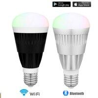 10 W MagicLight Pro Wifi Bluetooth Smartphone Kontrolowane Wake Up-Możliwość Przyciemniania Wielokolorowe Żarówka LED E27 dla IOS Android