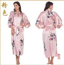 RB015 Атласные Халаты для Невесты Свадебное Одеяние Пижамы Шелка Pijama Случайный Халат Животных Вискоза Долго Ночной Рубашке Кимоно Женщин XXXL