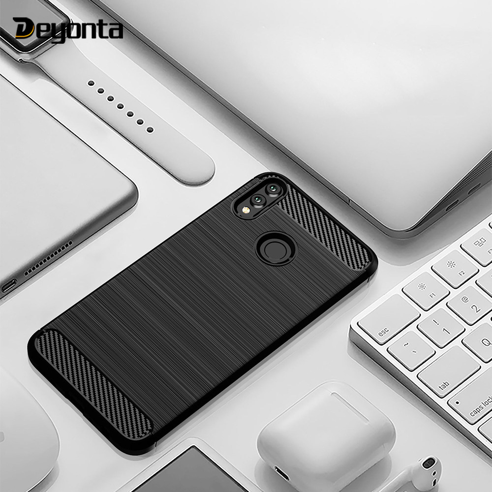 Carbon Fiber Case for Huawei Honor 8X Max Play 8A 9 10 lite 8C 8 7A Pro 7C 7X 6X 6A 6C Cases for Honor V9 Play V10 V20 9i 2018