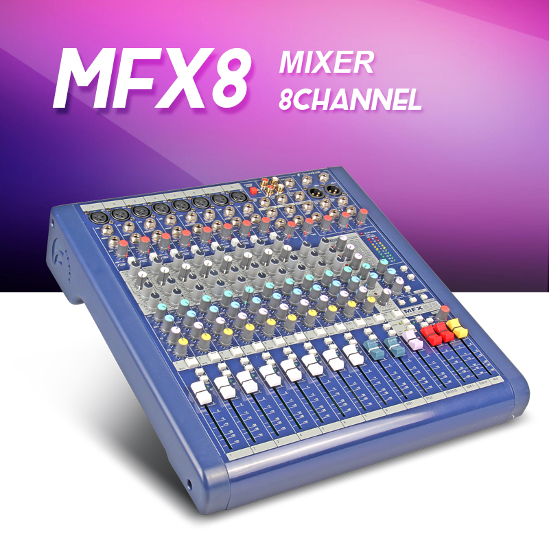 Highest quality MFX8 2 8 channel Audio mixer Stage performances Mixer with Effects microphone mixer 110V