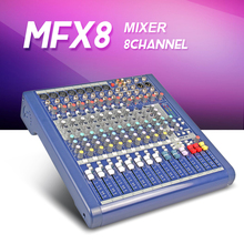 Highest quality!!!MFX8/2 8 channel Audio mixer Stage performances Mixer with Effects microphone mixer 110V-220V