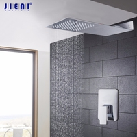 Wholesale And Retail Polished Chrome Finish Bathroom Square Rain Shower Head With The Control Valve