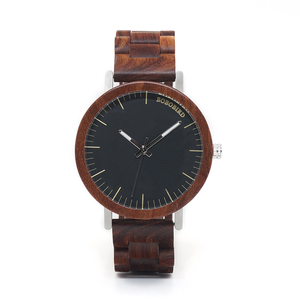 Image 2 - BOBO BIRD WM16 Brand Design Rose Wooden Watch for Men Cool Metal Case Wood Strap Quartz Watches Luxury Unisex Gift