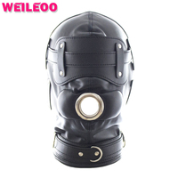 bdsm mask with open mouth gag dildo sex toy bdsm erotic adult game fetish slave bdsm bondage restraint adult sex toy for couple