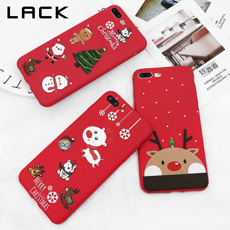 Christmas Iphone X Case.Lack Lovely Santa Claus Elk Case For Iphone X Case Cartoon Christmas Painted Cover Fashion Soft Cases For Iphone 7 6 6s 8 Plus