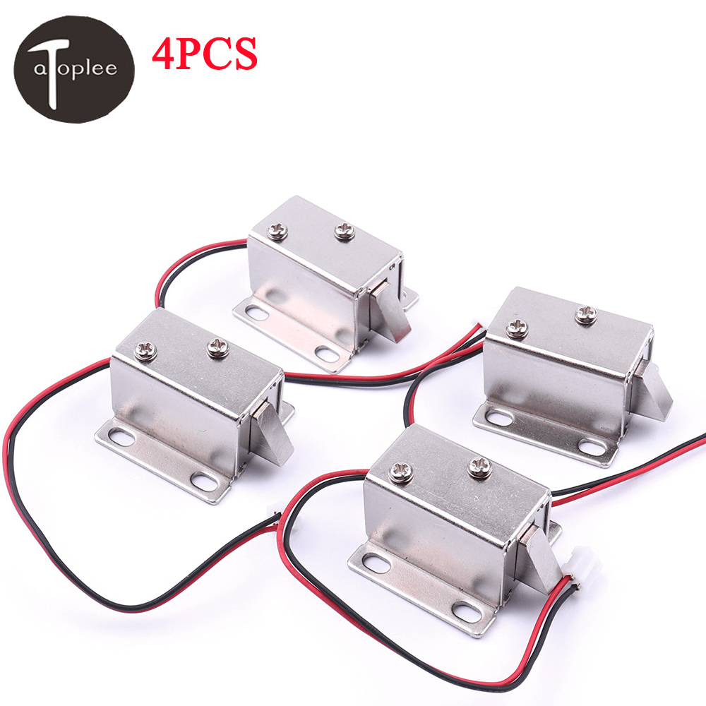 4PCS DC12V/350MA Cabinet Door Electric Lock Assembly Solenoid High Quality Ultra-Compact Locks цена