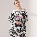 2016 Новая Осень Длинный Свитер Женщин Одежда Повседневная Новинка женские Свитера Пуловеры Печати Дамы Пуловер Одежда Плюс Размер