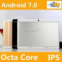 10 дюймов Octa core 3 г 4 г телефон Tablet MTK8752 Android 7 4 ГБ Оперативная память 32 ГБ/64 ГБ Встроенная память Dual SIM Bluetooth GPS 4 г Планшеты PC