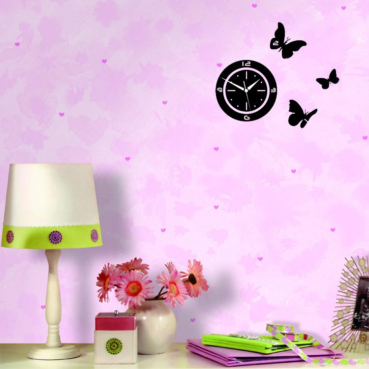 Aliexpresscom Buy Digital D Wall Clock Home Decoration - Butterfly wall decals 3daliexpresscombuy d butterfly wall decor wall sticker
