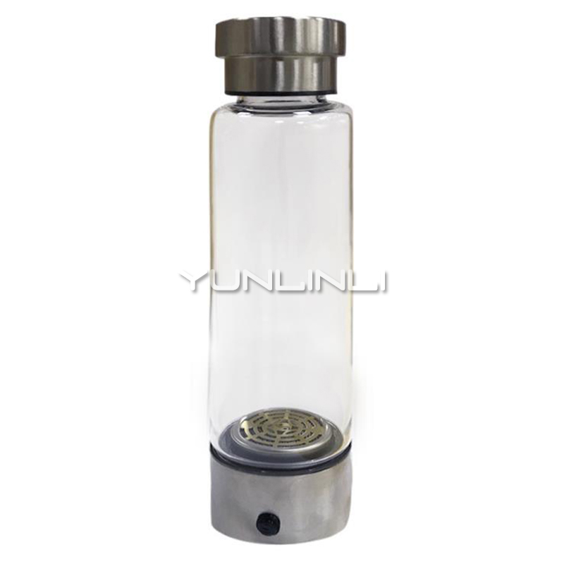 Hydrogen-rich water cup hydrogen and oxygen separation double-layer glass weak alkaline water cup health cup QMS-202P new arrivl good health hydrogen rich water cup hk 8090 for personal use