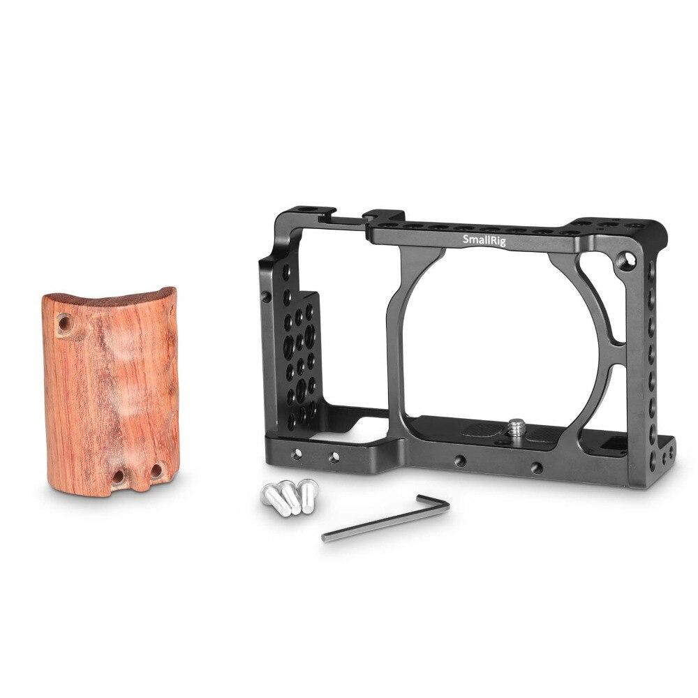Cage de caméra SmallRig a6300 avec poignée en bois pour Sony A6000/A6300 Kit de Cage de caméscope DSLR Cage en alliage d'aluminium-2082 - 2