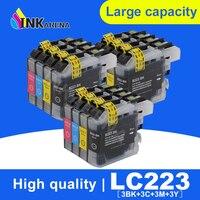 Tinte Patrone Für Brother LC223 Volle Tinte Für J5720DW J480DW J680DW J880DW DCP J4120DW J562DW Drucker Patrone LC223 Mit Chip