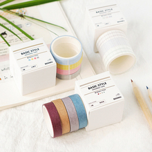 4Pcs/box Morandi Plaid Series Washi Tape Set Creative DIY Decorative Adhesive Masking Sticker Scrapbook Stationery Supplies