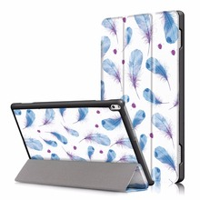 Gligle Motive print super slim stand leather Case cover voor Lenovo Tab 4 10 Plus (TB-X704F) tablet shell 50 stks/partij gratis verzending(China)