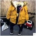 Марка зима детская куртка искусственный мех мальчики пальто толстые детские мальчики наряды желтый синий новый год костюм infantil menino для 2-7Y