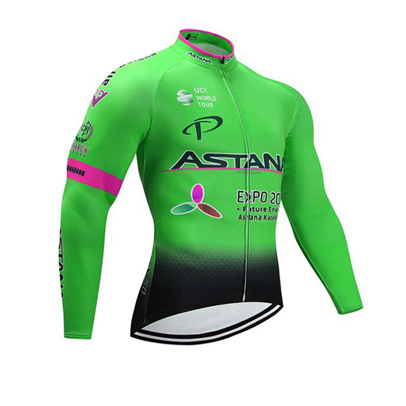 2019 ASTANA Mens Long Sleeve Cycling Jerseys Mtb Cycling Clothing Bicycle Maillot Ciclismo Sportswear Bike Clothes Thin section