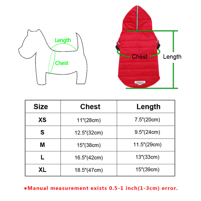 Winter outerwear for dogs - Les Value