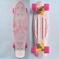 Marble Mini Cruiser Plastic Skateboard 22 X 6 Retro Longboard Skate Long Board No Assembly Required