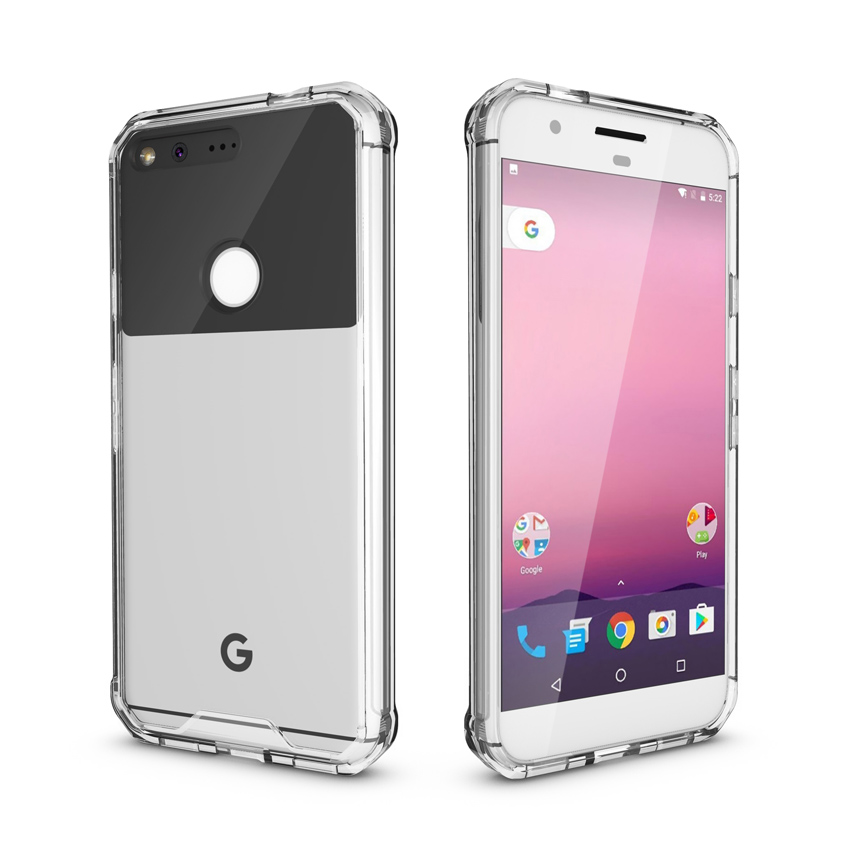 Asuwish Slim Transparent Armor Cover Protective Silicone Phone Case For Google Pixel 2 XL Pixel2 2XL Pixel2xl Pixelxl Soft TPU