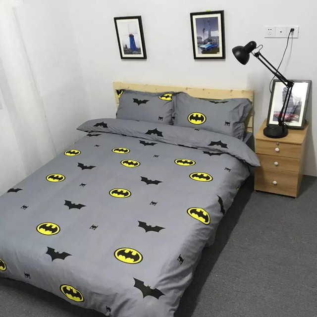 Batman King Size Duvet Cover Twin Queen King Size Cotton Bedding Set Bed Sheet Pillowcase