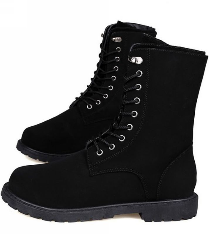 Aliexpress.com : Buy Boots For Men Mid Calf High Top Lace Up Boots ...