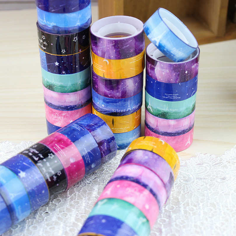 1 Pcs 2M*1.5CM Sky Tower Washi Tape Paper DIY Planner Masking Tape Adhesive Tapes Stickers Decorative Stationery Tapes