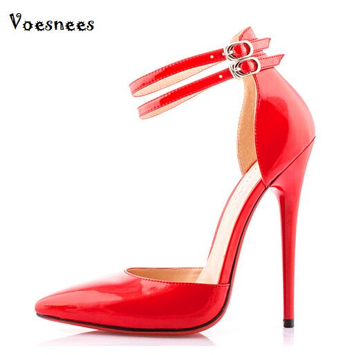 Summer Sexy High-heeled 14cm Shoes Buckle Bight club Ultra fine with Large Pointed Shoes Women SM shoes cross-dressing Sandals 2015 summer women s high heeled shoes fish head shoes korea princess waterproof fine with sexy high heeled sandals