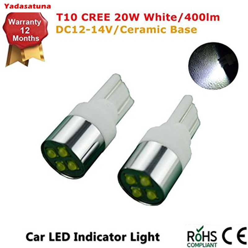 4Pcs Ceramic Base Super Bright White 6000k T10 CREE Chips 12W Interior Side Lights for Car Licence Plate/Pakers/Reversing Lights ogio ladies jewel polo xl bright white page 4