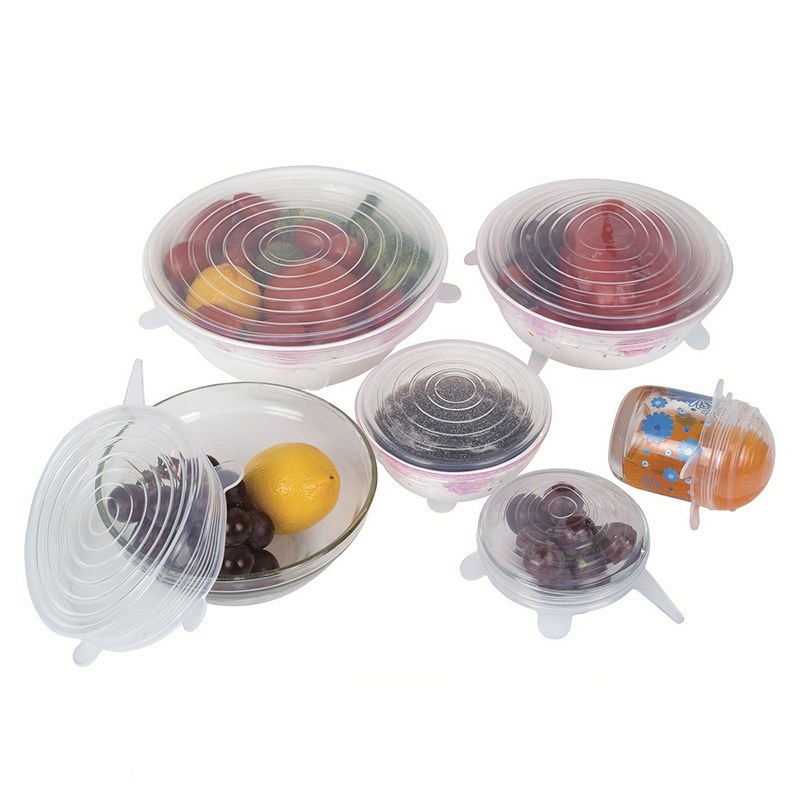 Bowl Dish-Cover Sealer Stretch-Lids Vacuum-Lid Kitchen Universal Silicon Food-Wrap Cup