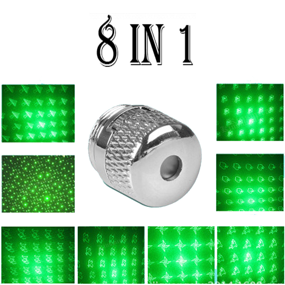 8 In 1 Green Laser Cap 303 Cnc Lasers Powerful Device Adjustable Focus Lazer With Star Cap(does Not Include Laser) Suitable For Men And Women Of All Ages In All Seasons