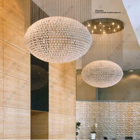 T large living room pendant light fashion royal luxury light hall hotel engineering shop mall lamps